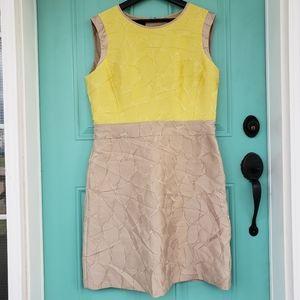 Lafayette 148 dress satin colorblock nwt 12